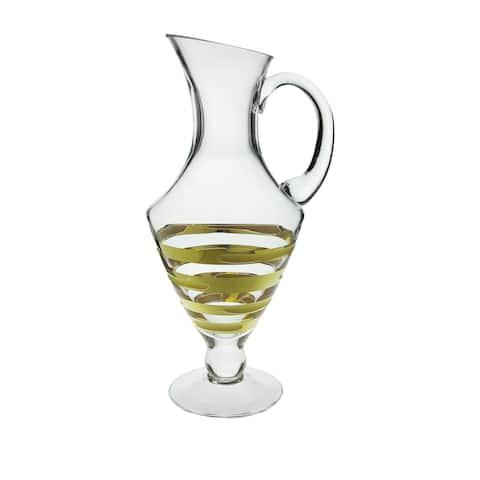 Water pitcher with 14K Gold Artwork-Brick design