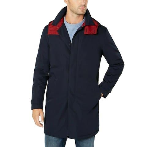 Tommy Hilfiger Mens Jacket Rainwear Hooded Oversized