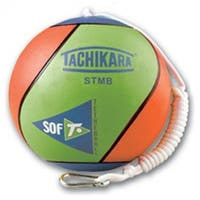 Olympia Sports  Tachikara Sof-T Rubber Tetherball - Lime Blue & Orange