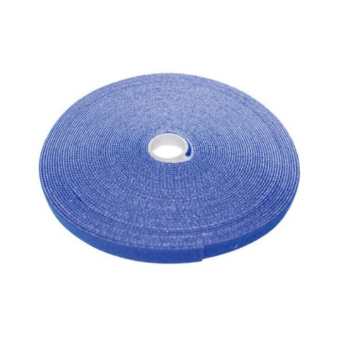 Hook and Loop Tape, 3/4 inch Wide, Blue, 50ft Roll