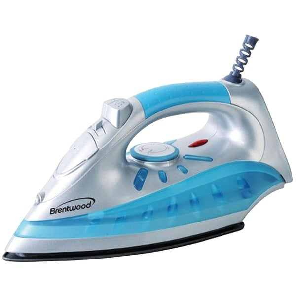 Brentwood Mpi-60 Nonstick Steam/Dry, Spray Iron With Silver Finish
