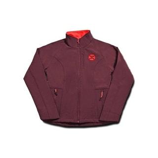 HOOey Jacket Womens Zip Front Pockets Fleece Lined Maroon HJ016MAGY