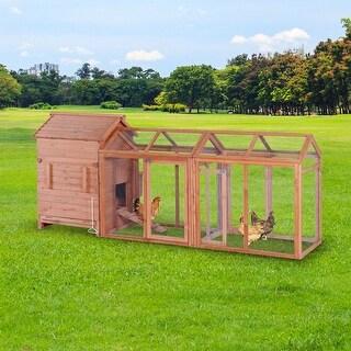 Lovupet Deluxe Wooden Chicken Coop Hen House Poultry Rabbit Pet Hutch Cage 0319