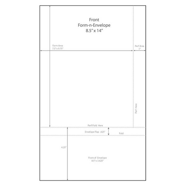 "Shop 8-1/2"" X 14"" Blank Memo Size Form-N-Envelope"