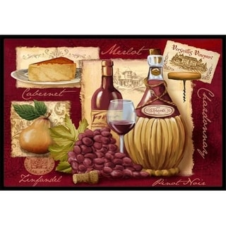 Carolines Treasures PTW2046MAT Wine And Cheese Indoor & Outdoor Mat 18 x 27 in.