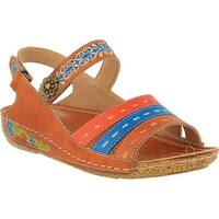 L'Artiste by Spring Step Women's Kerry Slingback Camel Leather