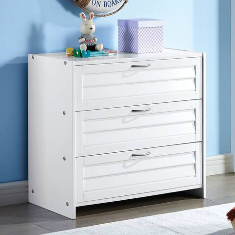 Furniture of America Sosa Transitional White Solid Wood Chest
