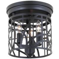 DVI Lighting DVP5932 River Heights 3 Light Flush Mount Ceiling Fixture
