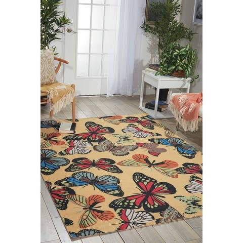 Nourison Home & Garden Butterfly Indoor/Outdoor Area Rug