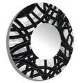Statements2000 Black / Silver Metal Decorative Wall-Mounted Mirror by Jon Allen - Mirror 108 - Thumbnail 7