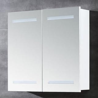 "Miseno MBC2526LED 26""W 25""H Double Door Reversible Hinge Mirrored Medicine Cabinet for Surface Mount Installations with LED"