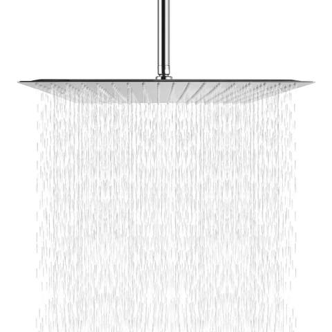 16 Inch Ultra Thin Square Fixed Rain Shower Head Chrome Finish