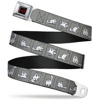 Simon's Cat Full Color Black Red Simon's Cat Pose Blocks Gray Black White Seatbelt Belt