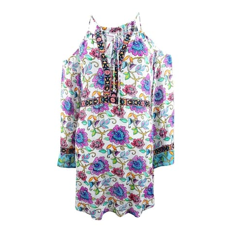 Nanette Lepore Women's Printed Cold-Shoulder Tunic Cover-Up - Multi