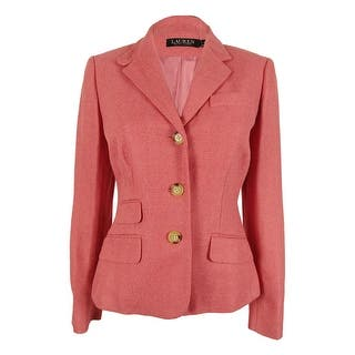 Ralph Lauren Women's Linen Blend Blazer Jacket - faded rose|https://ak1.ostkcdn.com/images/products/is/images/direct/e48ef3e1ef7ecd3477965f9a7f88906529a95c9d/Ralph-Lauren-Women%27s-Linen-Blend-Blazer-Jacket.jpg?impolicy=medium
