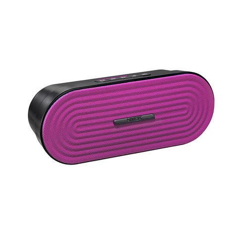 HMDX Rave Portable Rechargeable Wireless Speaker, Pink - 6.5 x 2.5 x 1.8
