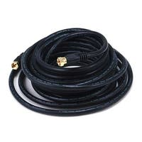 Monoprice 25ft RG6 (18AWG) 75Ohm, Quad Shield, CL2 Coaxial Cable with F Type Connector - Black