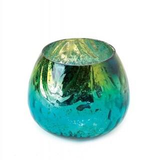 Peacock Glass Tealight Candleholder
