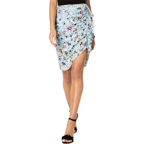Guess Womens Floral Pencil Skirt