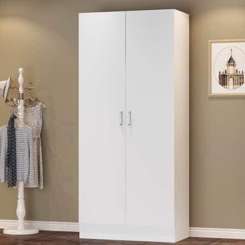 5-Tier Amoires Wardrobe Cabinet With 2 Doors