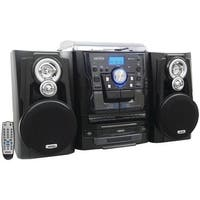 Jenjmc1250  Bluetooth 3-Speed Stereo Turntable Music System With