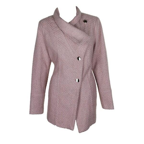 cfe41356d75 Shop Inc International Concepts Pink Asymmetrical Belted Knit Walker ...