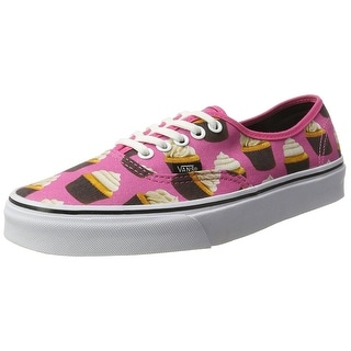 Vans Authentic Round Toe Canvas Sneakers - hot pink/cupcakes