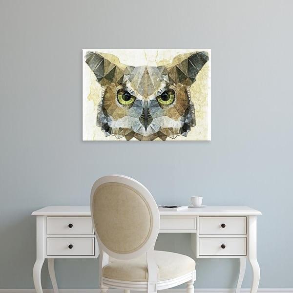 Easy Art Prints Ancello's 'Abstract Owl' Premium Canvas Art