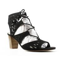 Marc Fisher Womens Mfpetite Black Open Toe Heels Size 9.5