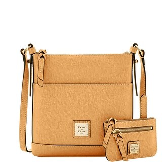 Dooney & Bourke Calf Letter Carrier with Small Coin Case (Introduced by Dooney & Bourke at $195 in Sep 2016) - Caramel