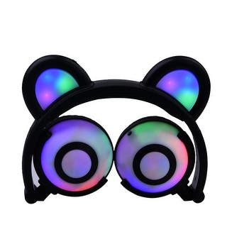 TechComm K9 Fun and Colorful Bear Ear LED Headphones with Glowing or Blinking Settings|https://ak1.ostkcdn.com/images/products/is/images/direct/e4973c182b1f80cb80fde7fe9653cdbae39ce8a8/TechComm-K9-Fun-and-Colorful-Bear-Ear-LED-Headphones-with-Glowing-or-Blinking-Settings.jpg?impolicy=medium
