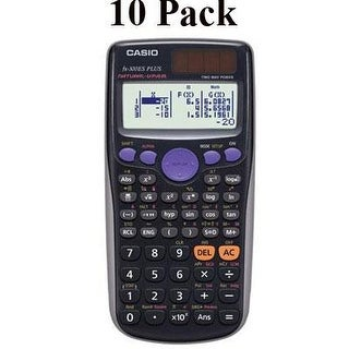Casio Fx-300Es Plus Scientific Calculator, Black, Teacher Pack Of 10