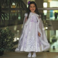 Angels Garment White Lilac Embroidered Occasion Dress Little Girl 2T-6