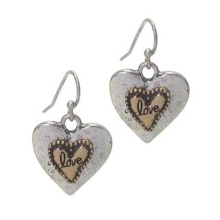 Vintage Love Heart Earrings