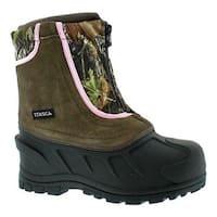Itasca Children's Snow Stomper Winter Boot Camo/Pink Suede/Nylon