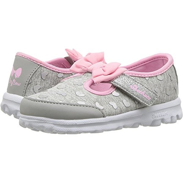8e6b12aefe45 Shop Skechers Kids Baby Girl s Go Walk - Bitty Heart 81162N (Infant Toddler Little  Kid) Gray Pink 8 M Us Toddler - Free Shipping Today - Overstock - ...