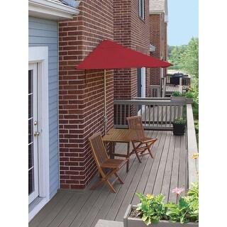 5-Pc Terrace Mates Premium Squared Outdoor Patio Furniture Set 9' - Red Olefin