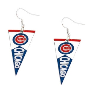 Chicago Cubs MLB Pennant Dangle Earring