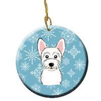 Snowflake Westie Ceramic Ornament