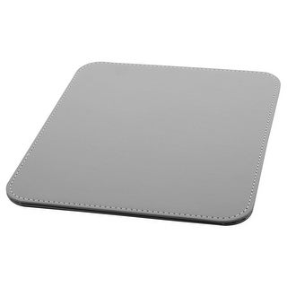 Notebook PU Leather Water Resistance Hard Mice Mat Test Gaming Mouse Pad Gray