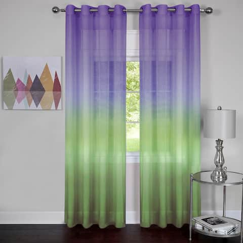 Achim Rainbow Ombre Grommet Top Curtain Panel