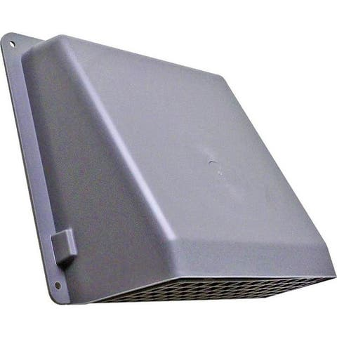"Lambro 351G Range Hood Wall Cap With Damper, 6"", Gray"