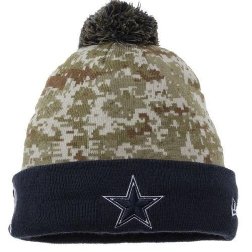 Shop New Era NFL 2015 Salute Knit Pom Beanie Hat - Dallas Cowboys - Free  Shipping On Orders Over  45 - Overstock.com - 18617390 87c679259