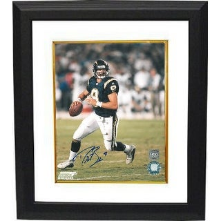 Drew Brees signed San Diego Chargers 8x10 Photo Custom Framed (navy jersey scramble)