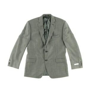 Calvin Klein Mens Silk Blend Slim Fit Two-Button Suit Jacket