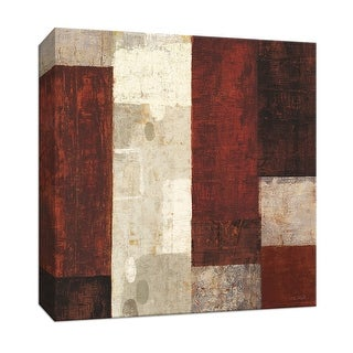 """PTM Images 9-152977  PTM Canvas Collection 12"""" x 12"""" - """"Cayenne"""" Giclee Abstract Art Print on Canvas"""