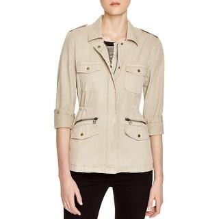 Lily Aldridge for Velvet Womens Jacket Cotton Long Sleeves