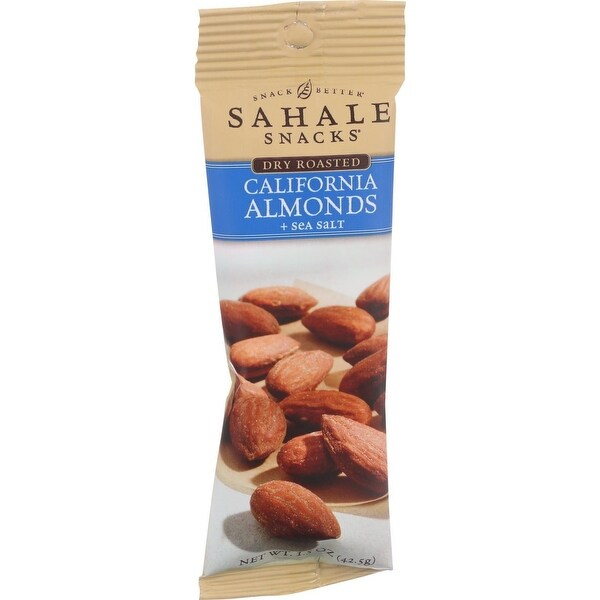 Sahale Snacks California Almonds - Dry Roasted - Sea Salt - 1.5 oz - Case of 9