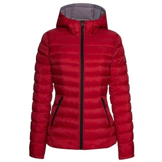 Link to Halifax Womens Red Hooded Jacket Quilted Puffer Outerwear Coat Similar Items in Women's Outerwear