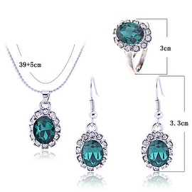 Women's Retro Crystal Jewelry Set (Earring, Ring And Necklace)